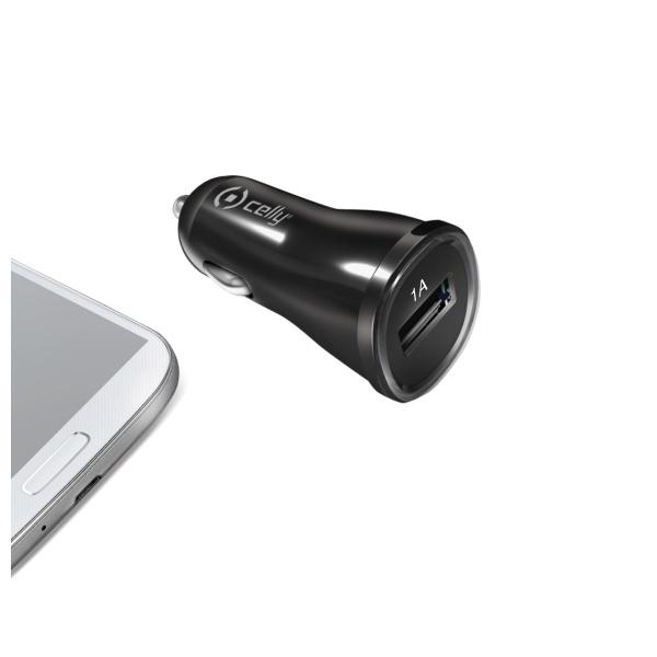 Auto-nabíječka pro iPhone - CELLY, 1A Black