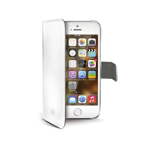 Pouzdro / kryt pro Apple iPhone 5 / 5S / SE - CELLY, Wally White