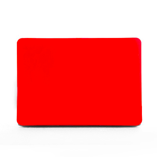 Polykarbonátové pouzdro / kryt na MacBook Pro 13 (2012-2015) - matný červený
