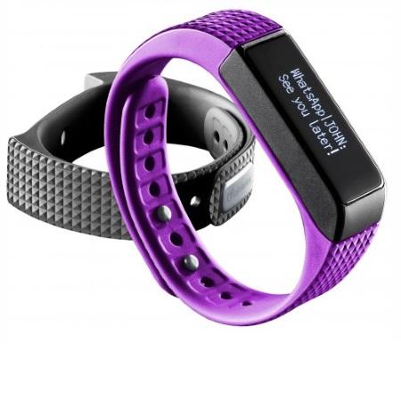 Bluetooth fitness náramek s dotykovým displejem - CellularLine, EASYFIT TOUCH Purple