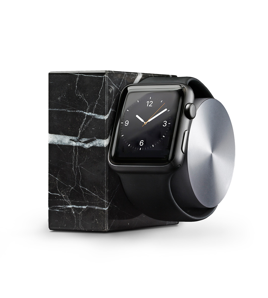 Nabíjecí stojánek pro Apple Watch 38mm / 42mm - Native Union, Dock Watch Marble Black