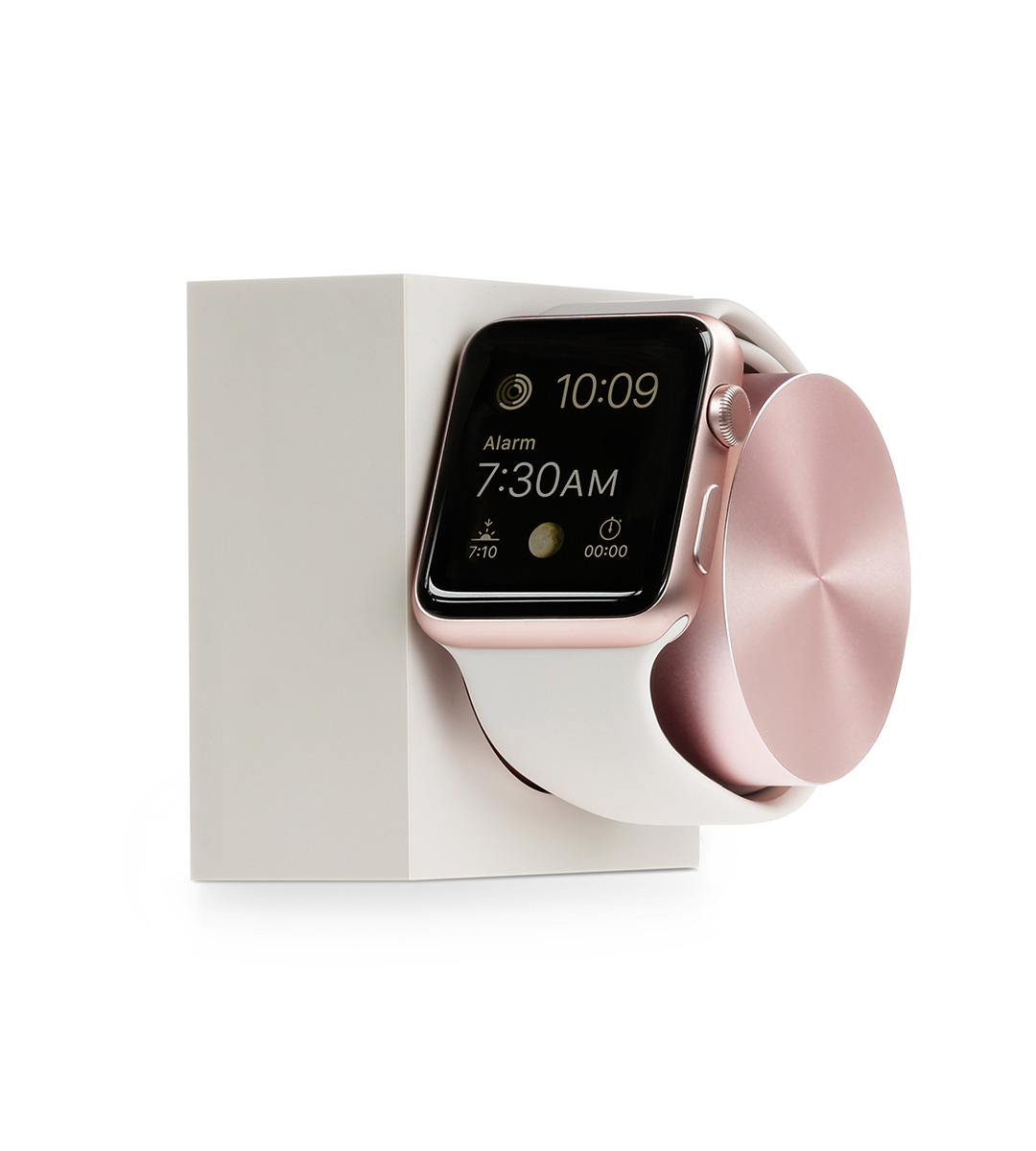 Nabíjecí stojánek pro Apple Watch 38mm / 42mm - Native Union, Dock Watch Silicon Stone