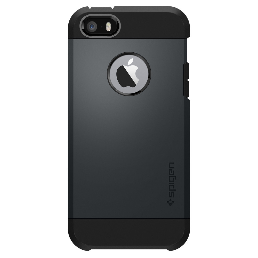 Pouzdro / kryt pro Apple iPhone 5 / 5S / SE - Spigen, Tough Armor Metal Slate