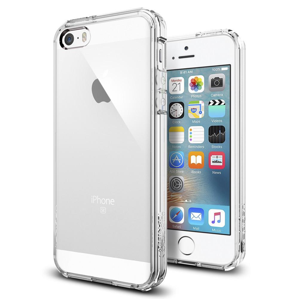 Pouzdro / kryt pro Apple iPhone 5 / 5S / SE - Spigen, Ultra Hybrid Crystal Clear