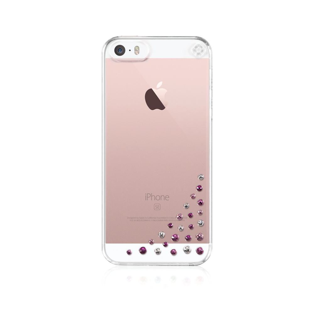 Pouzdro / kryt pro Apple iPhone 5 / 5S / SE - Bling My thing, Diffusion Pink - MADE WITH SWAROVSKI®