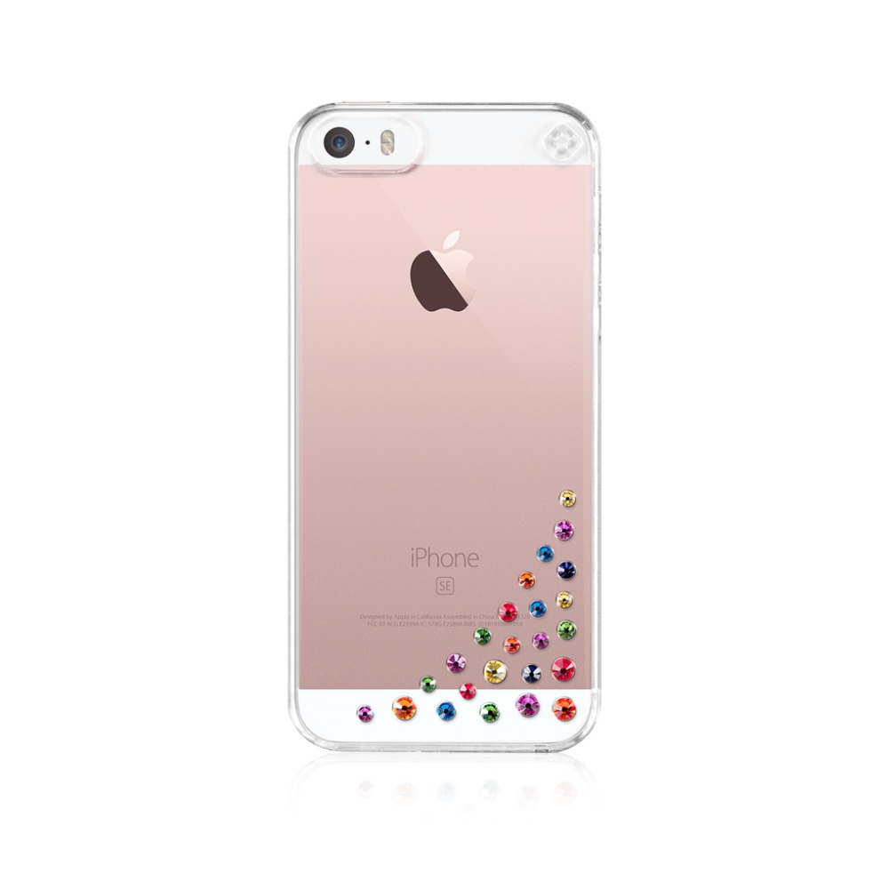 Pouzdro / kryt pro Apple iPhone 5 / 5S / SE - Bling My thing, Diffusion Rainbow - MADE WITH SWAROVSKI®