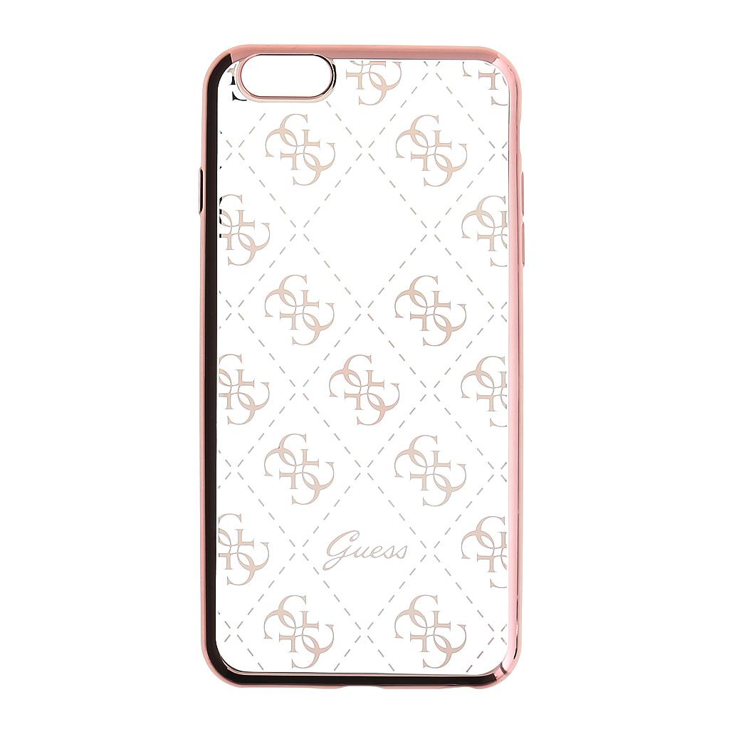 Pouzdro / kryt pro Apple iPhone 5 / 5S / SE - Guess, 4G TPU Rose Gold