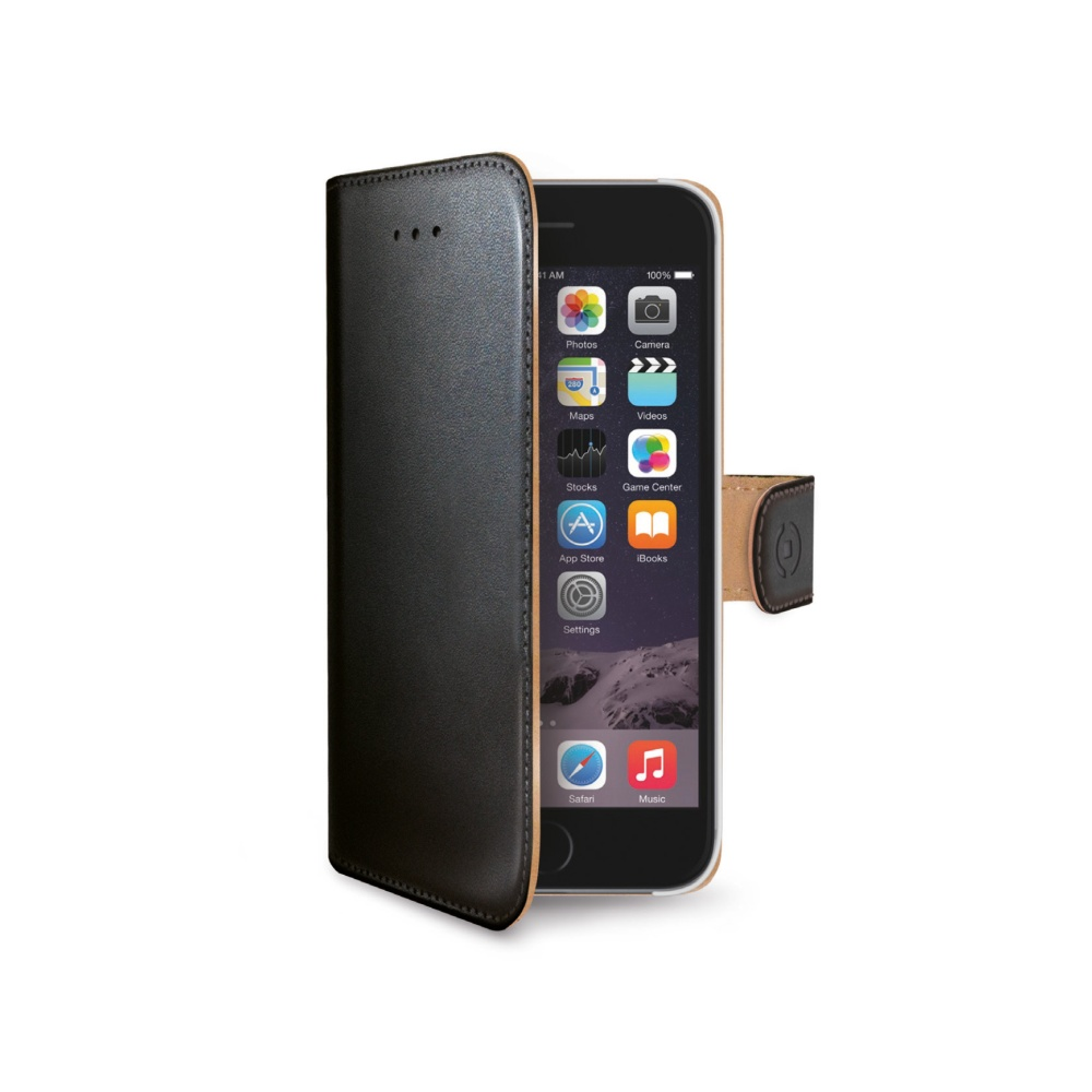 Pouzdro / kryt pro Apple iPhone 6 / 6S - CELLY, Wally Black