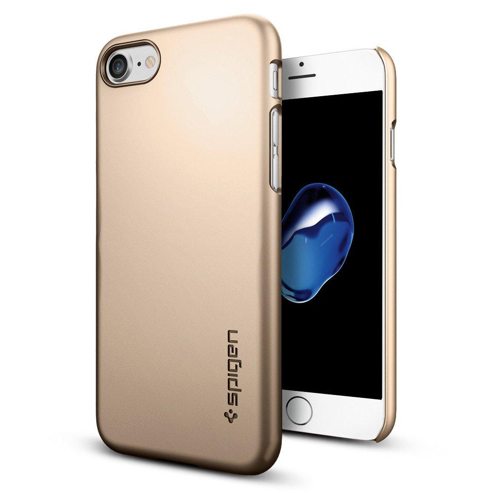 Pouzdro / kryt pro Apple iPhone 7 / 8 - Spigen, Thin Fit Champagne Gold