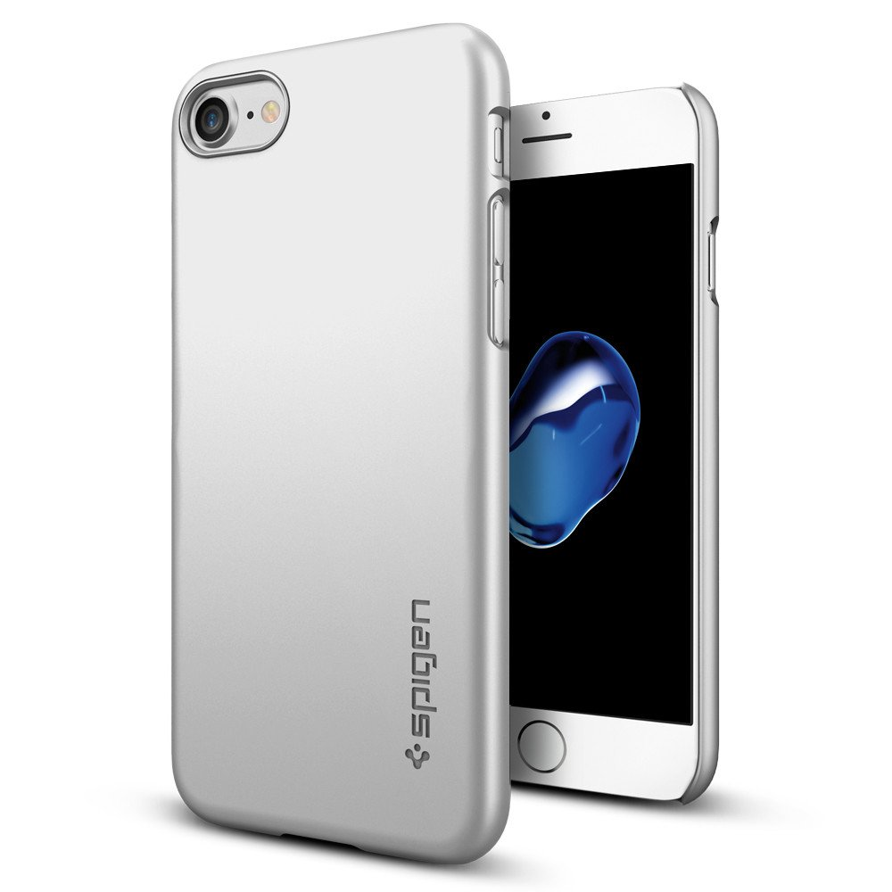 Pouzdro / kryt pro Apple iPhone 7 / 8 - Spigen, Thin Fit Satin Silver