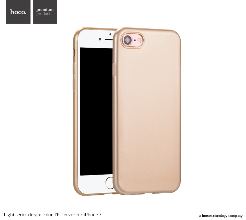 Pouzdro / kryt pro Apple iPhone 7 / 8 - Hoco, DreamColor Gold