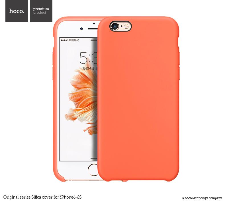 Pouzdro / kryt pro Apple iPhone 6 / 6S - Hoco, Silica Orange