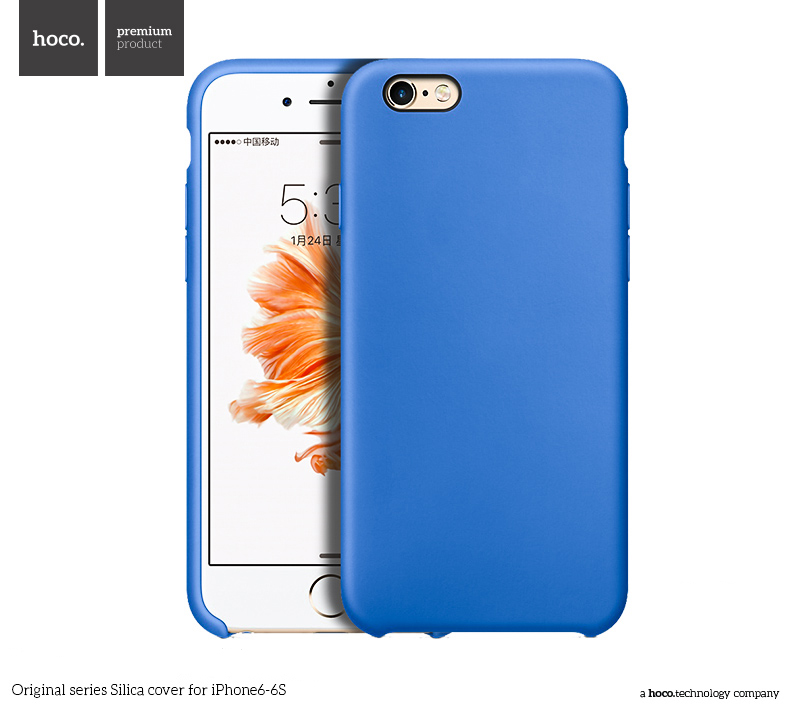 Pouzdro / kryt pro Apple iPhone 6 / 6S - Hoco, Silica Blue