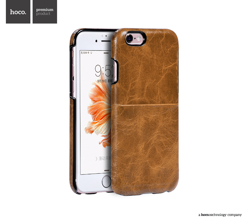 Pouzdro / kryt pro Apple iPhone 6 / 6S - Hoco, Platinum Light Brown