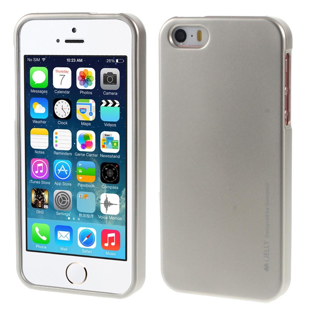 Pouzdro / kryt pro Apple iPhone 5 / 5S / SE - Mercury, i-Jelly Champagne Gold