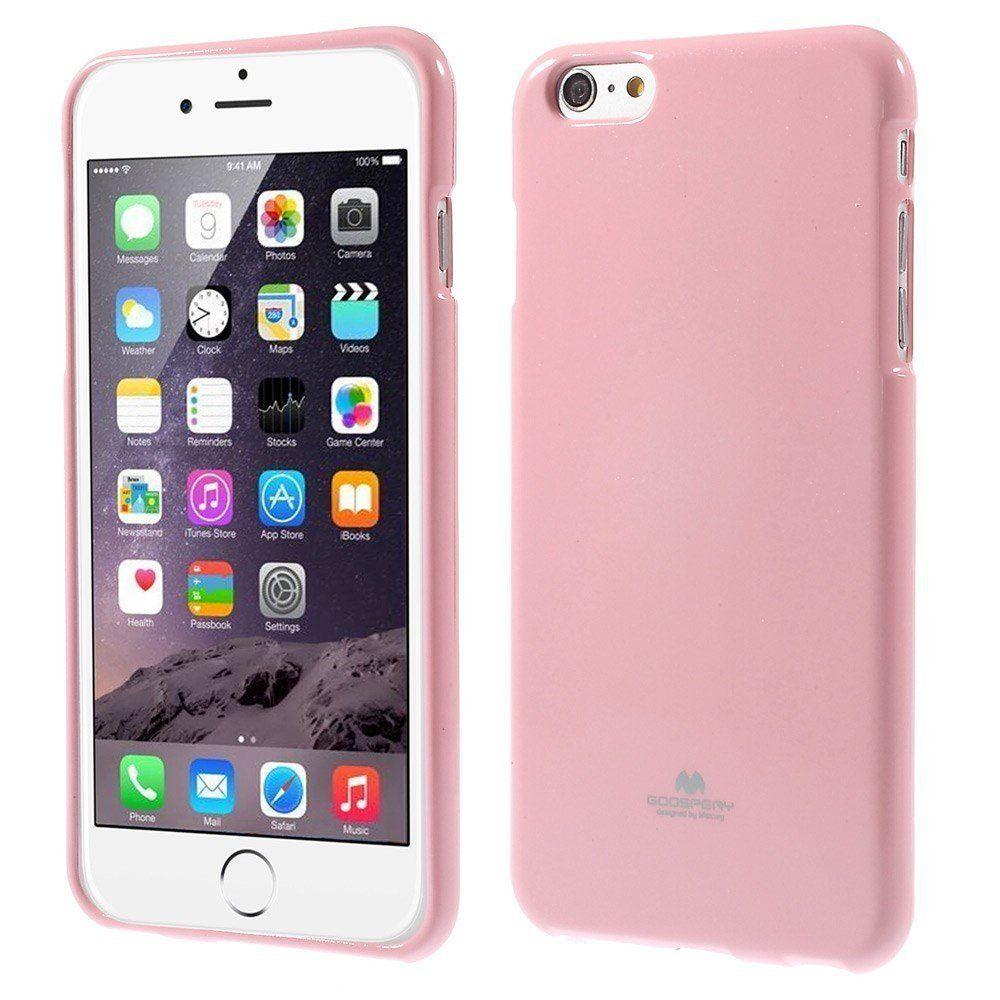 Pouzdro / kryt pro Apple iPhone 6 / 6S - Mercury, Jelly Case Pink