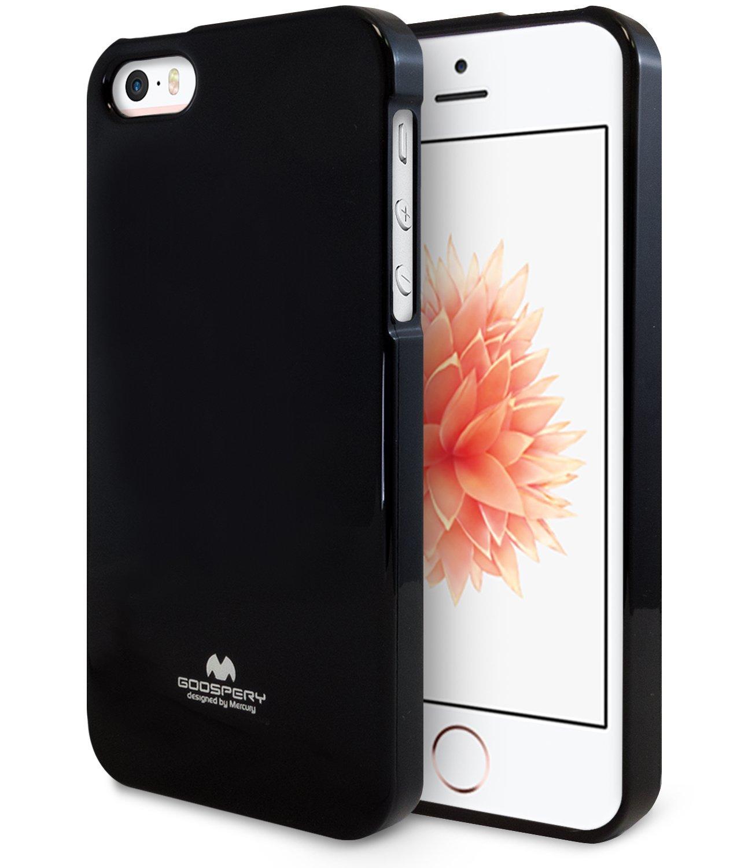 Pouzdro / kryt pro Apple iPhone 5 / 5S / SE - Mercury, Jelly Case Black