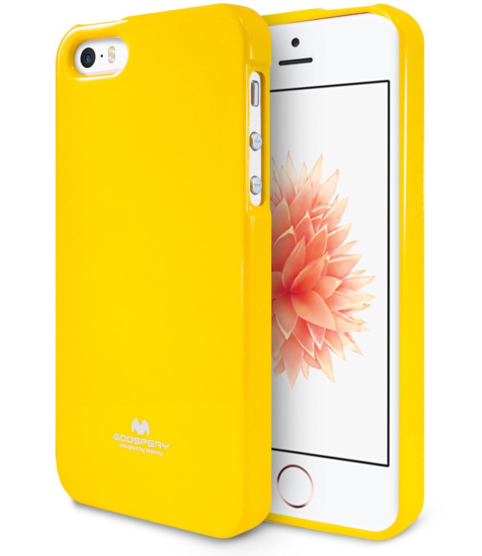 Pouzdro / kryt pro Apple iPhone 5 / 5S / SE - Mercury, Jelly Case Yellow