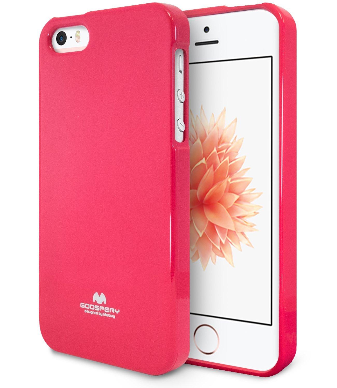 Pouzdro / kryt pro Apple iPhone 5 / 5S / SE - Mercury, Jelly Case Hotpink