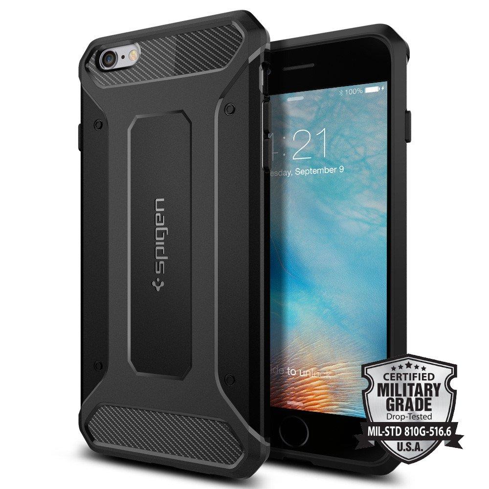 Pouzdro / kryt pro Apple iPhone 6 Plus / 6S Plus - Spigen, Capsule Ultra Rugged Black