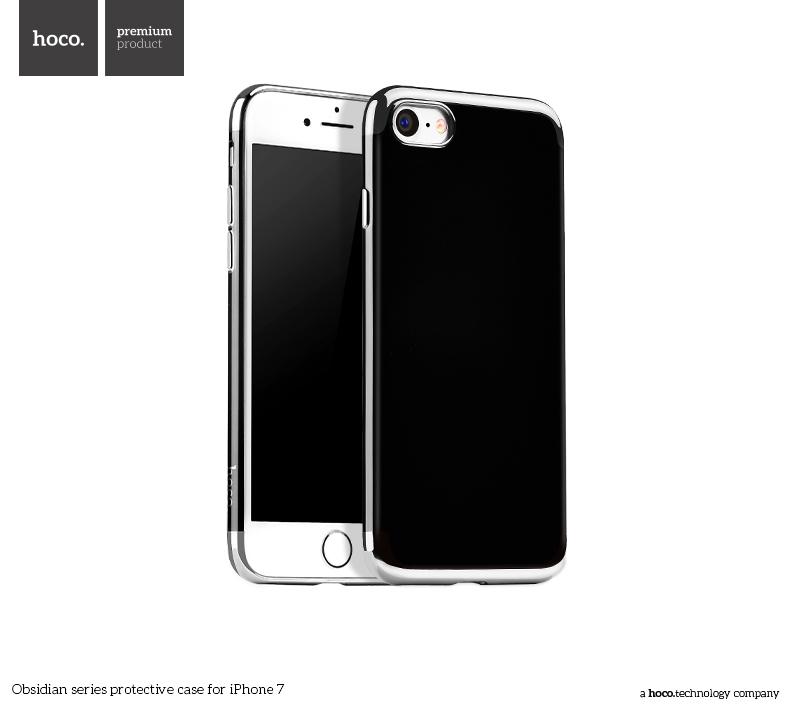 Pouzdro / kryt pro Apple iPhone 7 / 8 - Hoco, Obsidian Silver