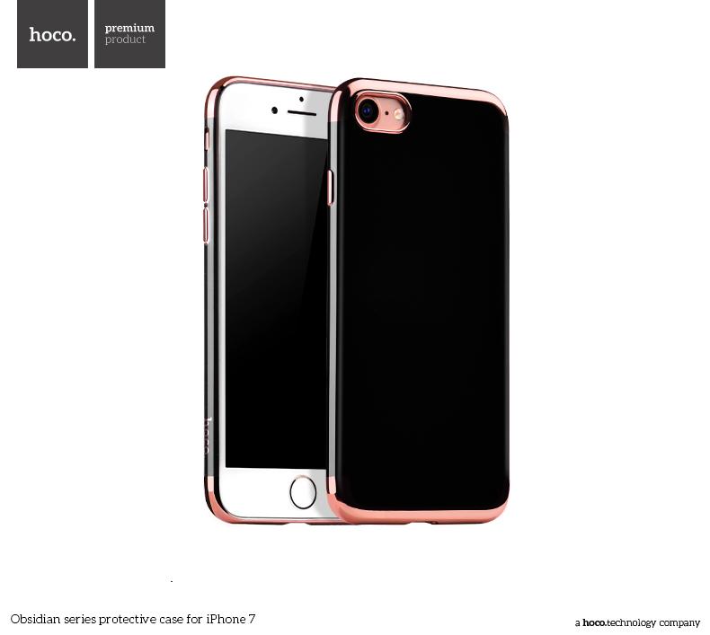Pouzdro / kryt pro Apple iPhone 7 / 8 - Hoco, Obsidian Rose Gold
