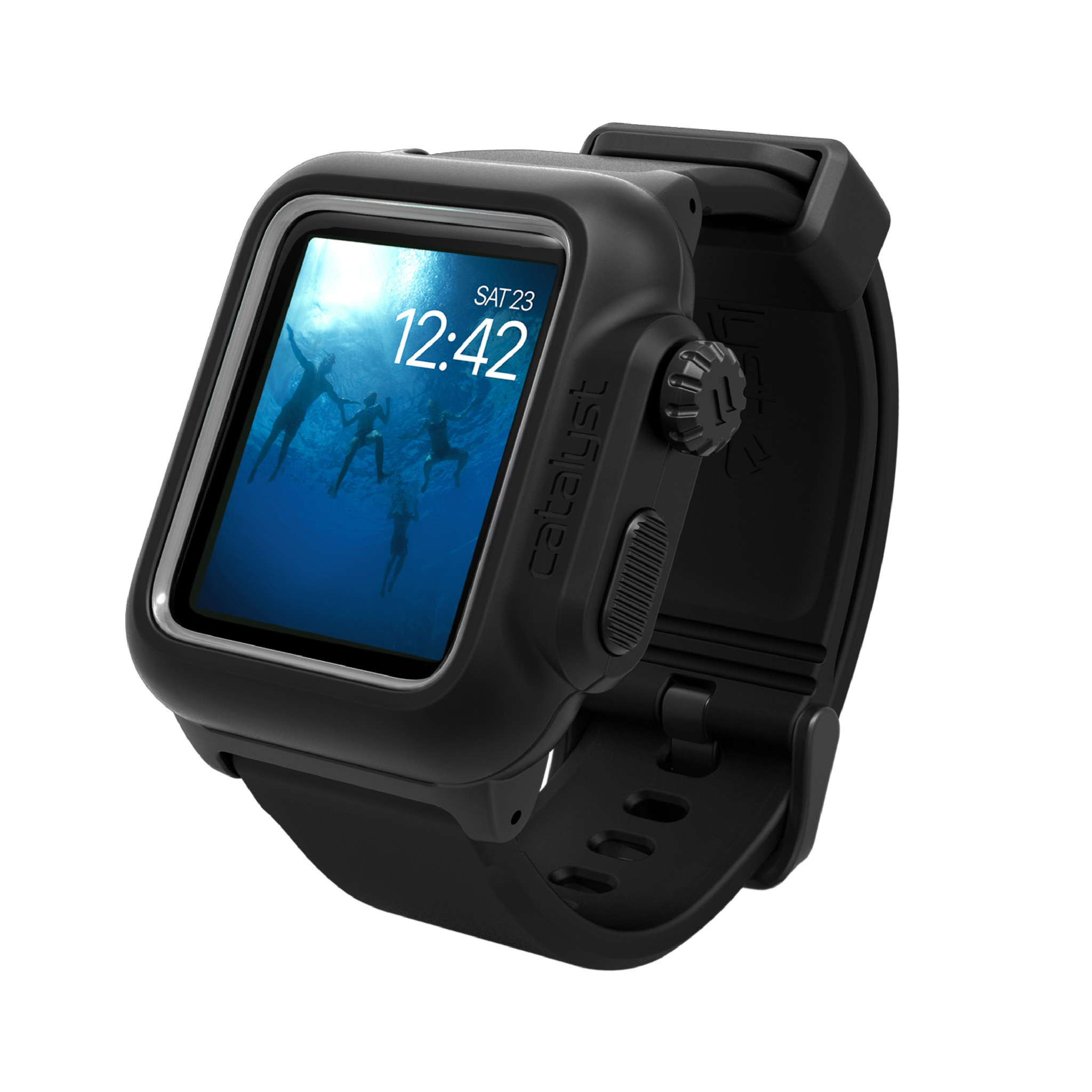 Voděodolné pouzdro / kryt pro 42mm Apple Watch SERIES 2 - Catalyst, Waterproof Black