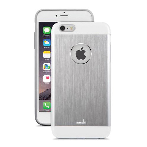 Pouzdro / kryt pro Apple iPhone 6 Plus / 6S Plus - Moshi, iGlaze Armour Jet Silver