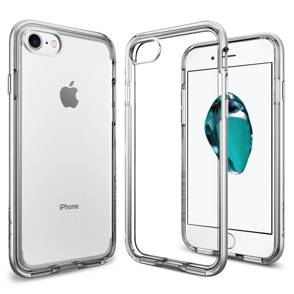 Pouzdro / kryt pro Apple iPhone 7 / 8 - Spigen, Neo Hybrid Crystal Satin Silver
