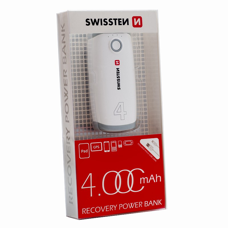 Externí baterie / Powerbanka - SWISSTEN, RECOVERY POWER BANK 4000mAh