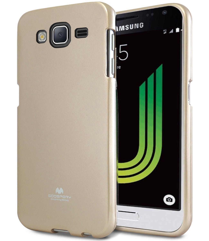 Pouzdro / kryt pro Samsung GALAXY J3 (2016) J3109 - Mercury, Jelly Gold