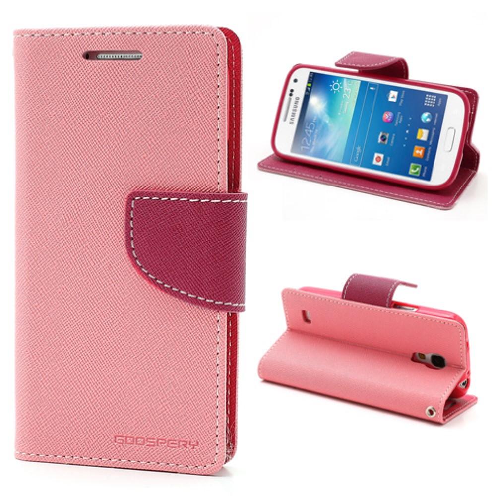 Pouzdro / kryt pro Samsung GALAXY S4 MINI I9195 - Mercury, Fancy Diary Pink/Hotpink