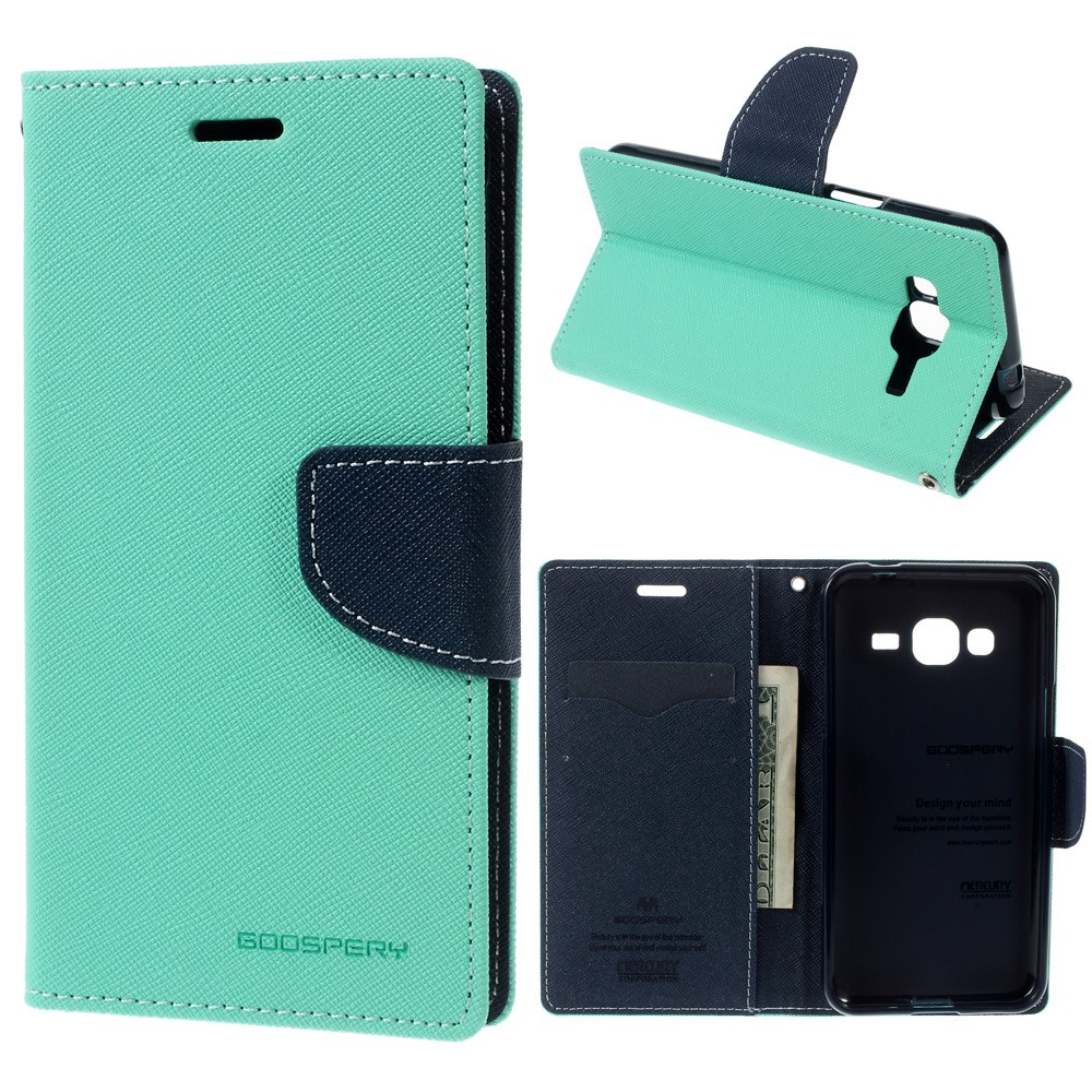 Pouzdro / kryt pro Samsung GALAXY J3 (2016) J3109 - Mercury, Fancy Diary Mint/Navy