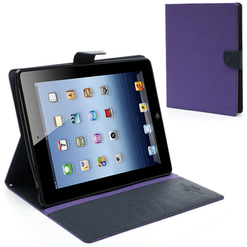 Pouzdro / kryt pro Apple iPad 2 / 3 / 4 - Mercury, Fancy Diary Purple/Navy