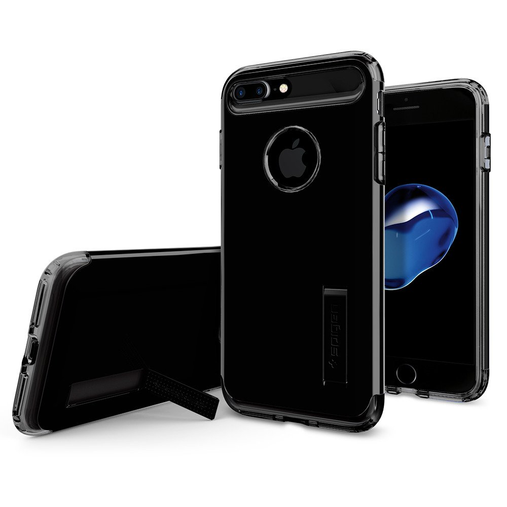 Pouzdro / kryt pro Apple iPhone 7 PLUS / 8 PLUS - Spigen, Slim Armor Jet Black