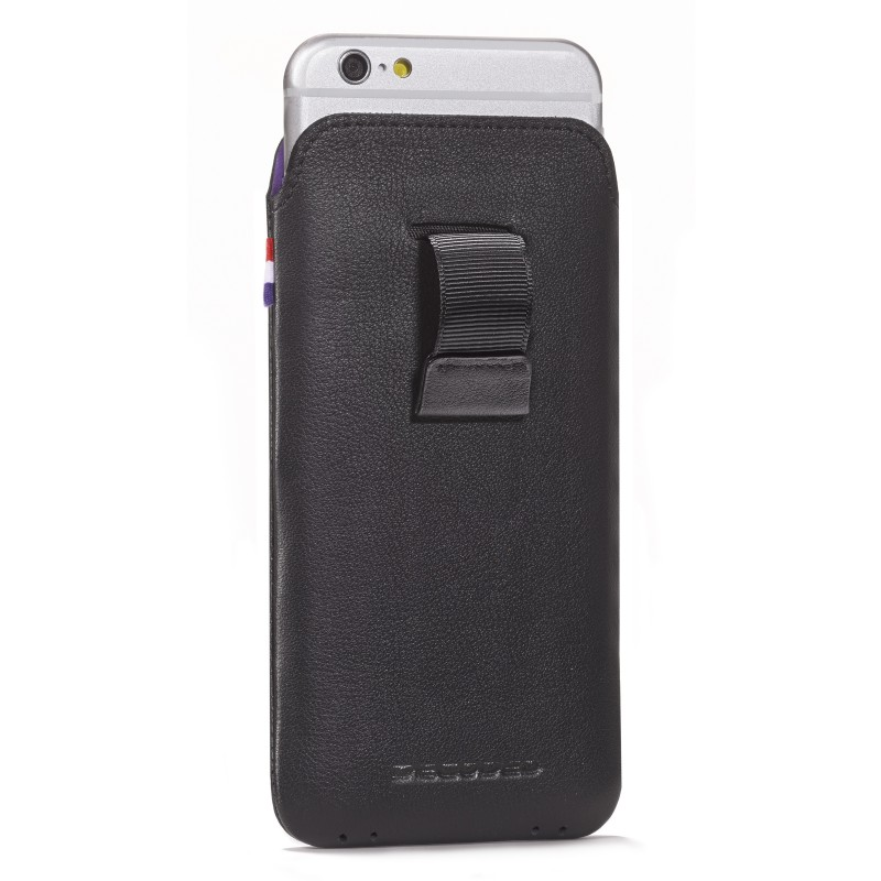 Pouzdro / kapsa pro Apple iPhone 6 / 6S / 7 / 8 - Decoded, Leather Pouch Black