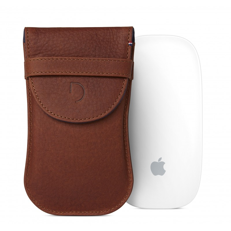 Pouzdro pro Apple Magic Mouse - Decoded, Leather Pouch Brown