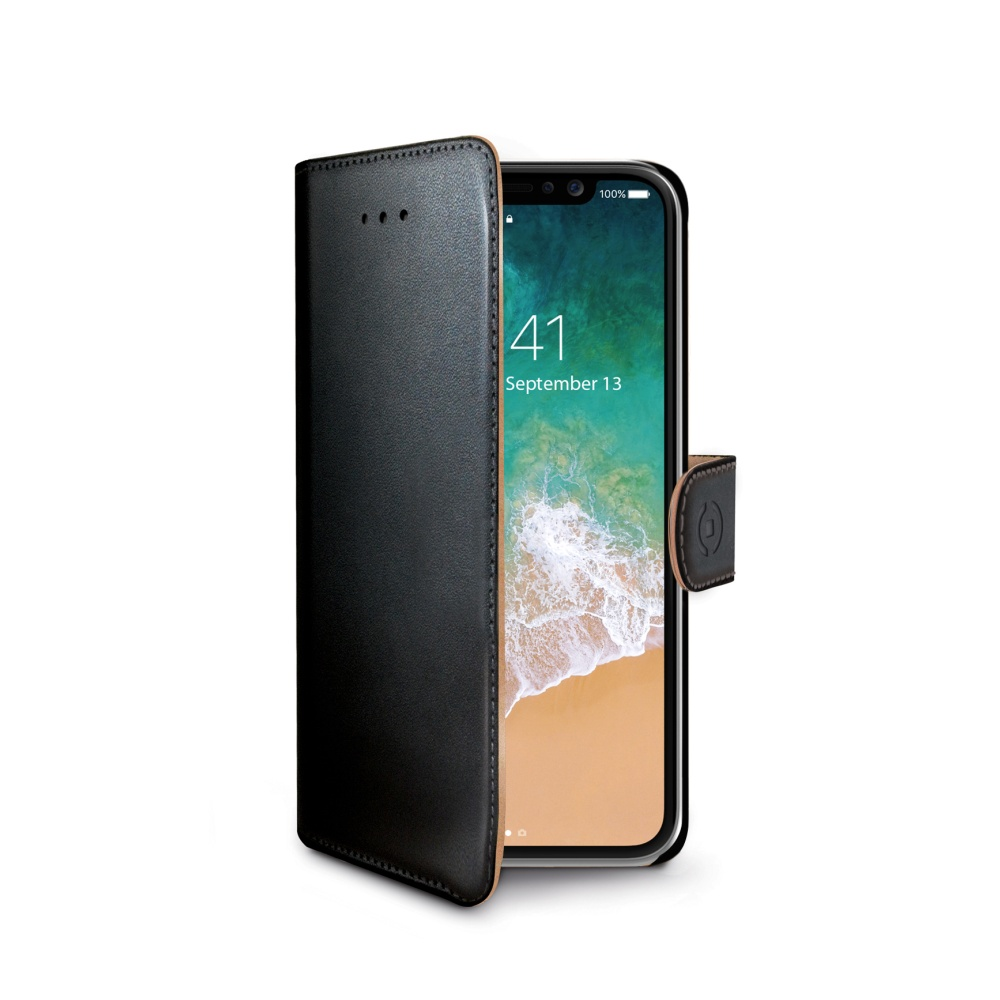 Pouzdro / kryt pro iPhone X - CELLY, Wally Black
