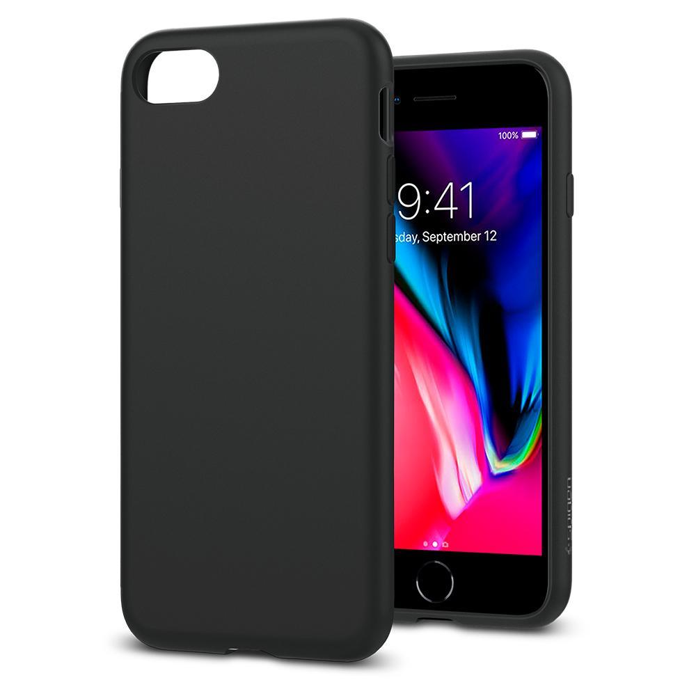 Ochranný kryt pro iPhone 7 / 8 - Spigen, Liquid Crystal Black