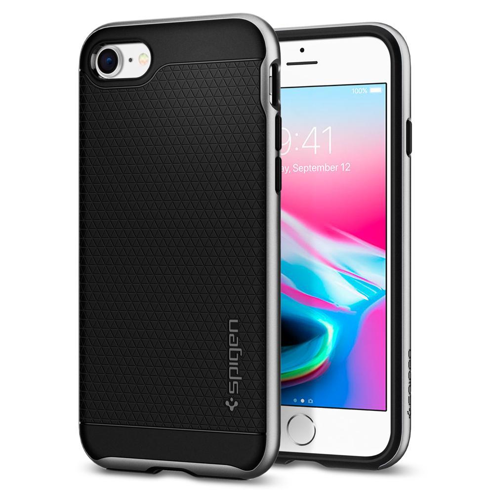 Ochranný kryt pro iPhone 7 / 8 - Spigen, Neo Hybrid 2 Satin Silver