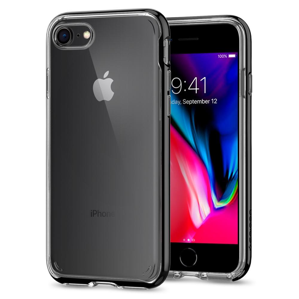 Ochranný kryt pro iPhone 7 / 8 - Spigen, Neo Hybrid Crystal 2 Jet Black