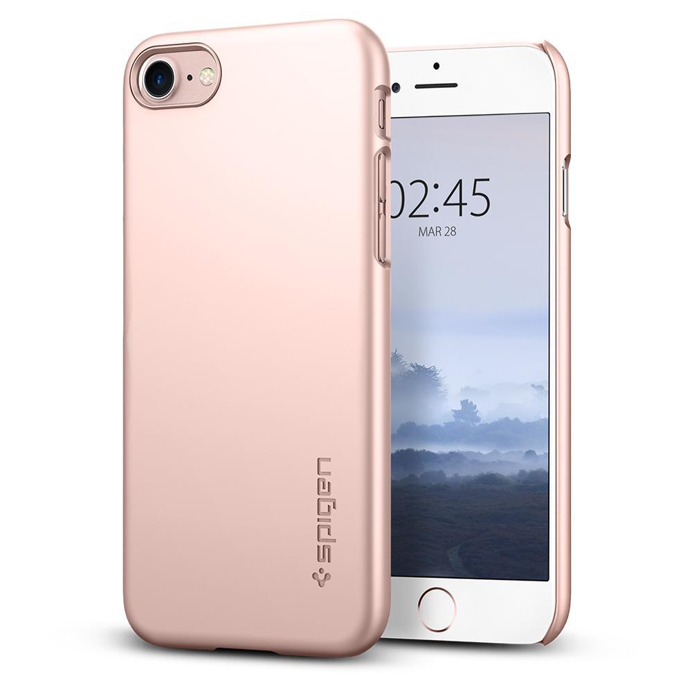Ochranný kryt pro iPhone 8 - Spigen, Thin Fit Rose Gold