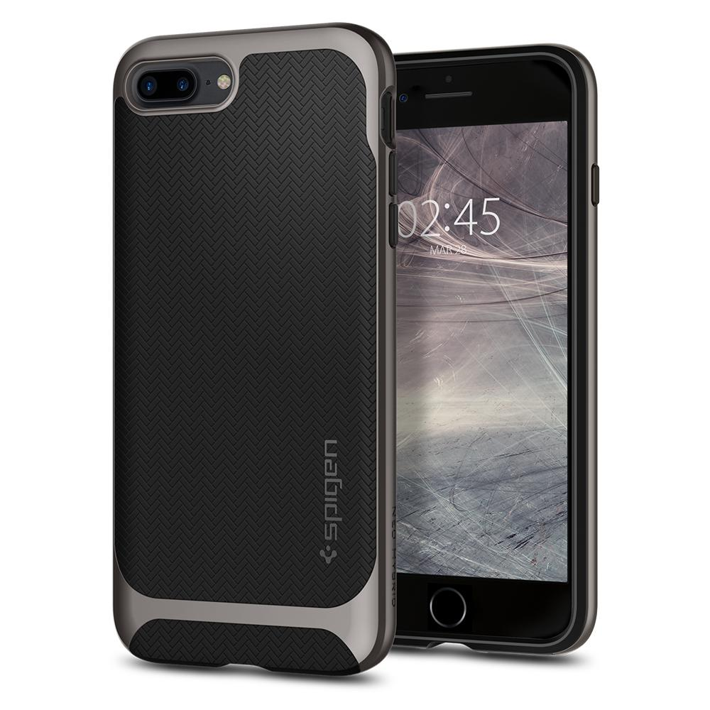 Ochranný kryt pro iPhone 7 PLUS / 8 PLUS - Spigen, Neo Hybrid Herringbone Gunmetal
