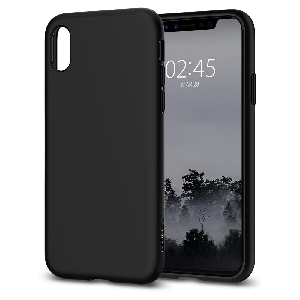 Ochranný kryt pro iPhone X - Spigen, Liquid Crystal Black